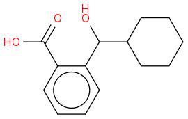 O=C(O)c1ccccc1C(O)C2CCCCC2
