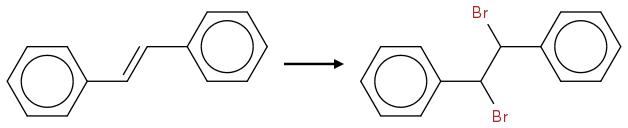 c1ccccc1C=Cc2ccccc2>>c1ccccc1C(Br)C(Br)c2ccccc2