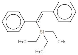 CC[Si](CC)(CC)C(c1ccccc1)=Cc2ccccc2